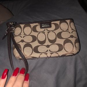 Little coach wristlet
